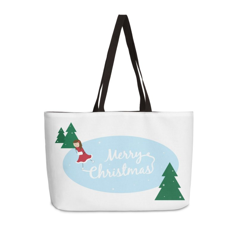 Christmas Ice Skater Accessories Weekender Bag Bag by {mostly} Smiling Sticks