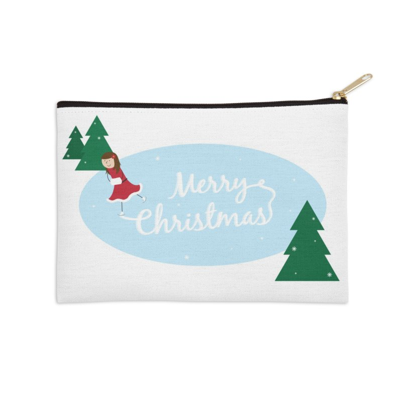 Christmas Ice Skater Accessories Zip Pouch by {mostly} Smiling Sticks