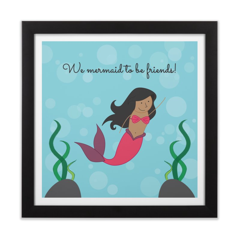 Mermaid Home Framed Fine Art Print by {mostly} Smiling Sticks
