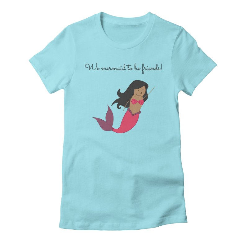 Mermaid Women's Fitted T-Shirt by {mostly} Smiling Sticks
