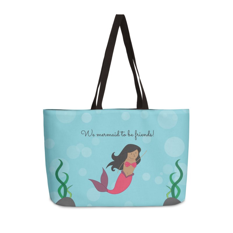 Mermaid Accessories Weekender Bag Bag by {mostly} Smiling Sticks