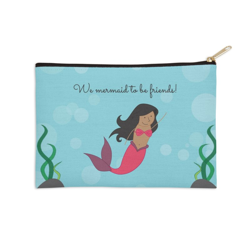 Mermaid Accessories Zip Pouch by {mostly} Smiling Sticks