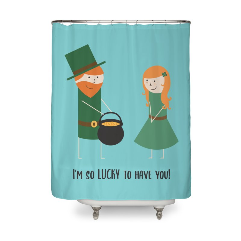 Lucky Home Shower Curtain by {mostly} Smiling Sticks