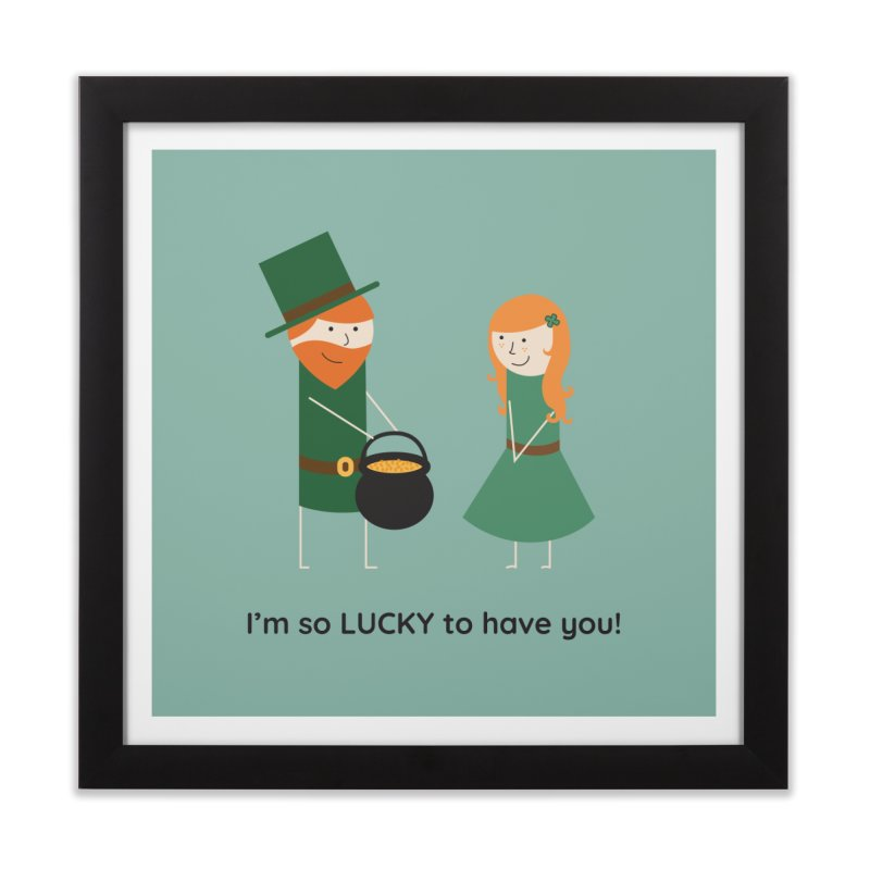 Lucky Home Framed Fine Art Print by {mostly} Smiling Sticks