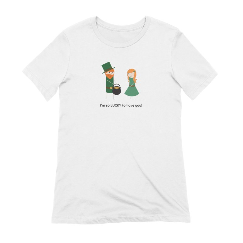 Lucky Women's Extra Soft T-Shirt by {mostly} Smiling Sticks