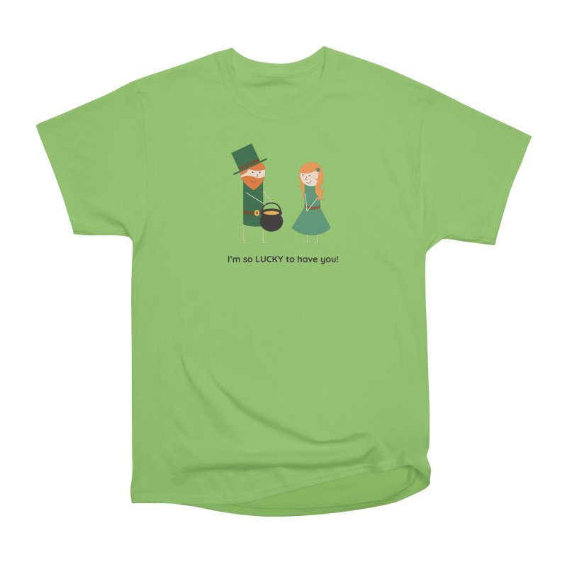 Lucky Men's Heavyweight T-Shirt by {mostly} Smiling Sticks