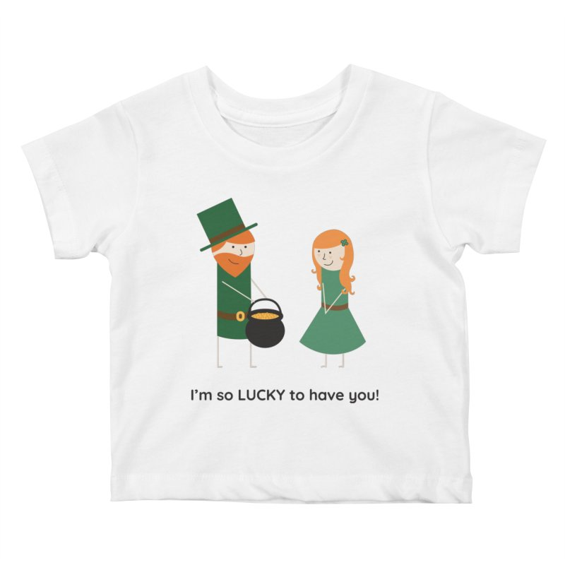 Lucky Kids Baby T-Shirt by {mostly} Smiling Sticks