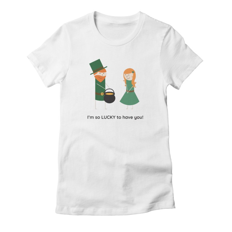 Lucky Women's Fitted T-Shirt by {mostly} Smiling Sticks