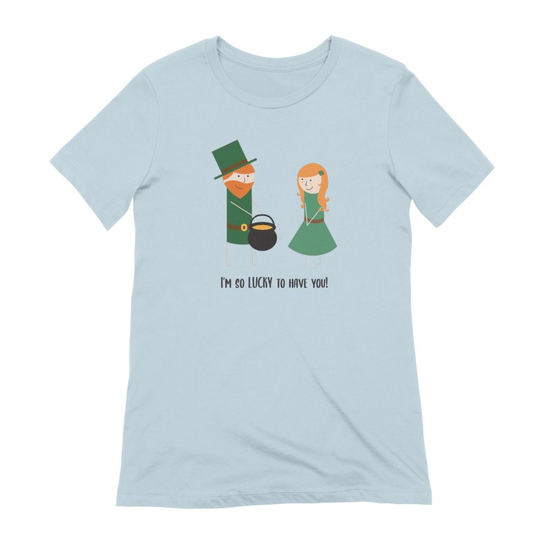 Lucky Women's T-Shirt by {mostly} Smiling Sticks