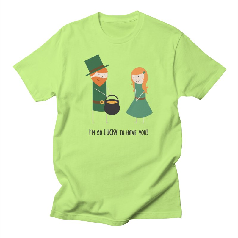 Lucky Men's T-Shirt by {mostly} Smiling Sticks