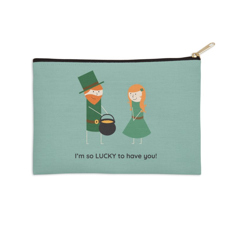 Lucky Accessories Zip Pouch by {mostly} Smiling Sticks