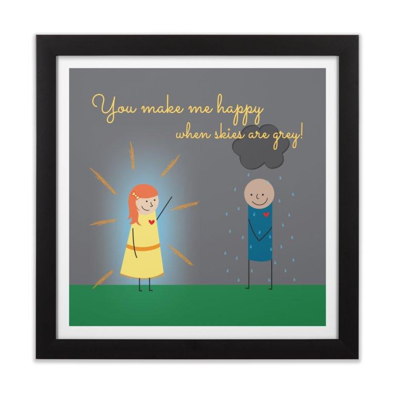 Sunshine Home Framed Fine Art Print by {mostly} Smiling Sticks
