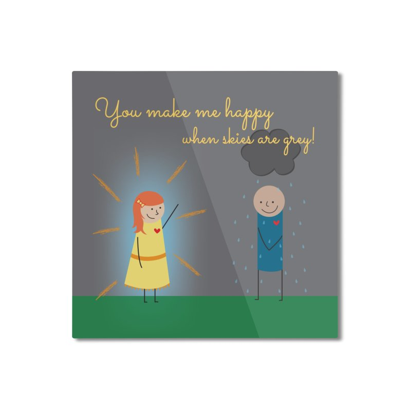 Sunshine Home Mounted Aluminum Print by {mostly} Smiling Sticks
