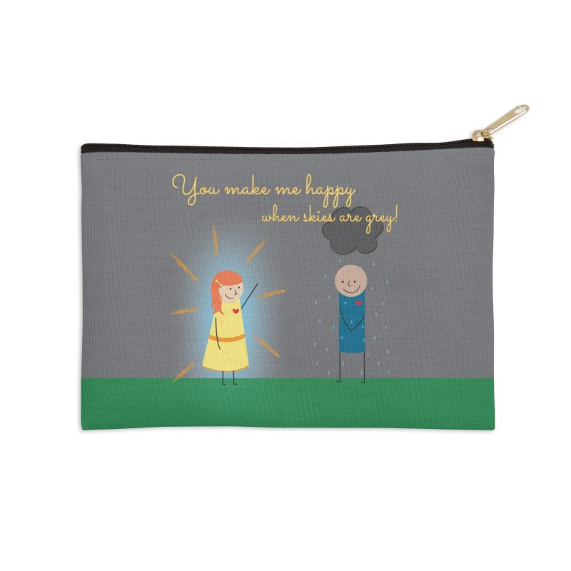 Sunshine Accessories Zip Pouch by {mostly} Smiling Sticks