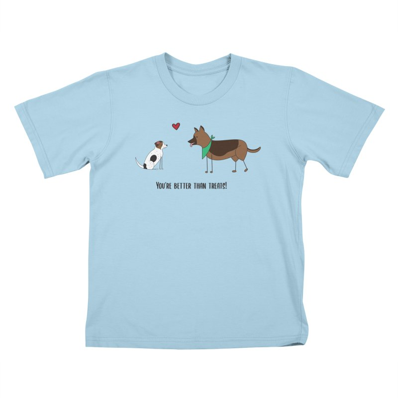 Better Than Treats Kids T-Shirt by {mostly} Smiling Sticks