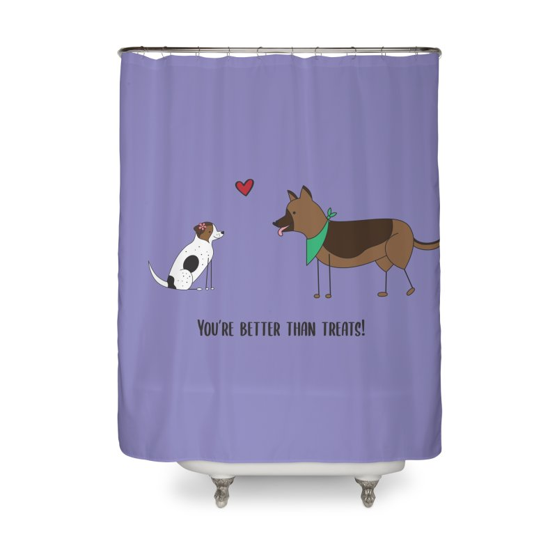 Better Than Treats Home Shower Curtain by {mostly} Smiling Sticks
