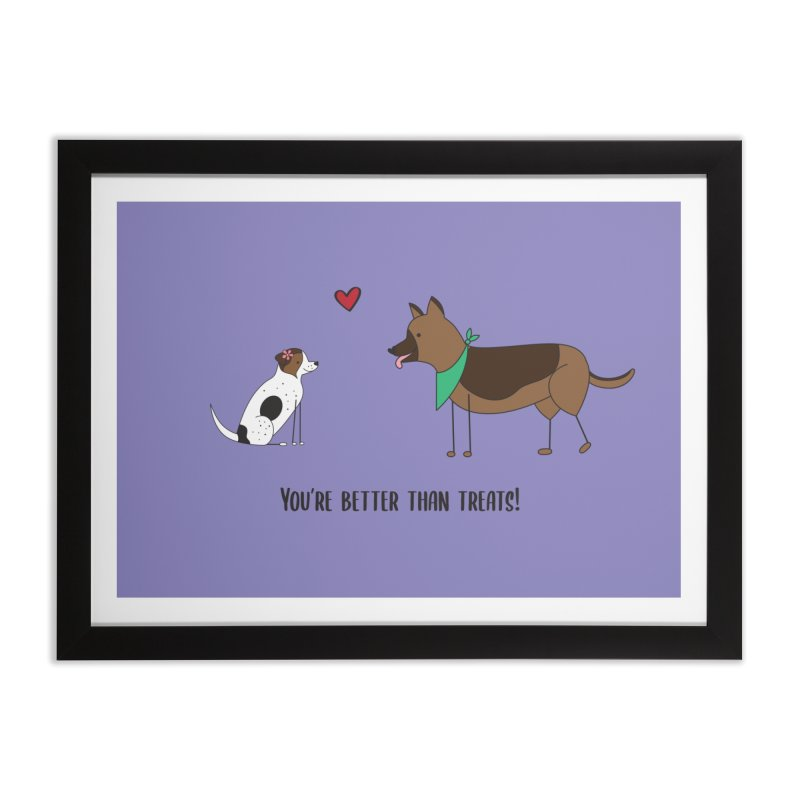 Better Than Treats Home Framed Fine Art Print by {mostly} Smiling Sticks