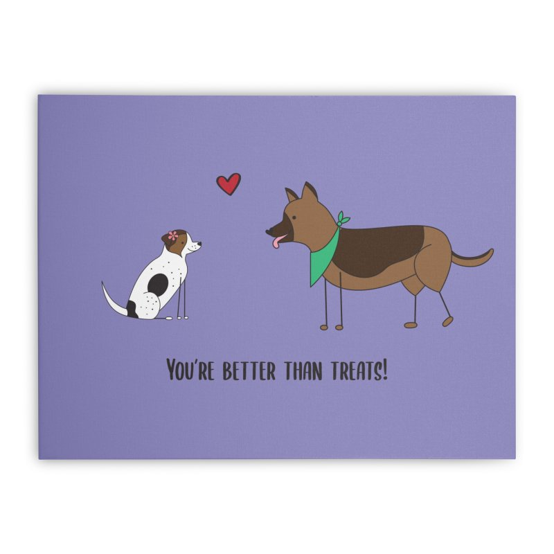 Better Than Treats Home Stretched Canvas by {mostly} Smiling Sticks