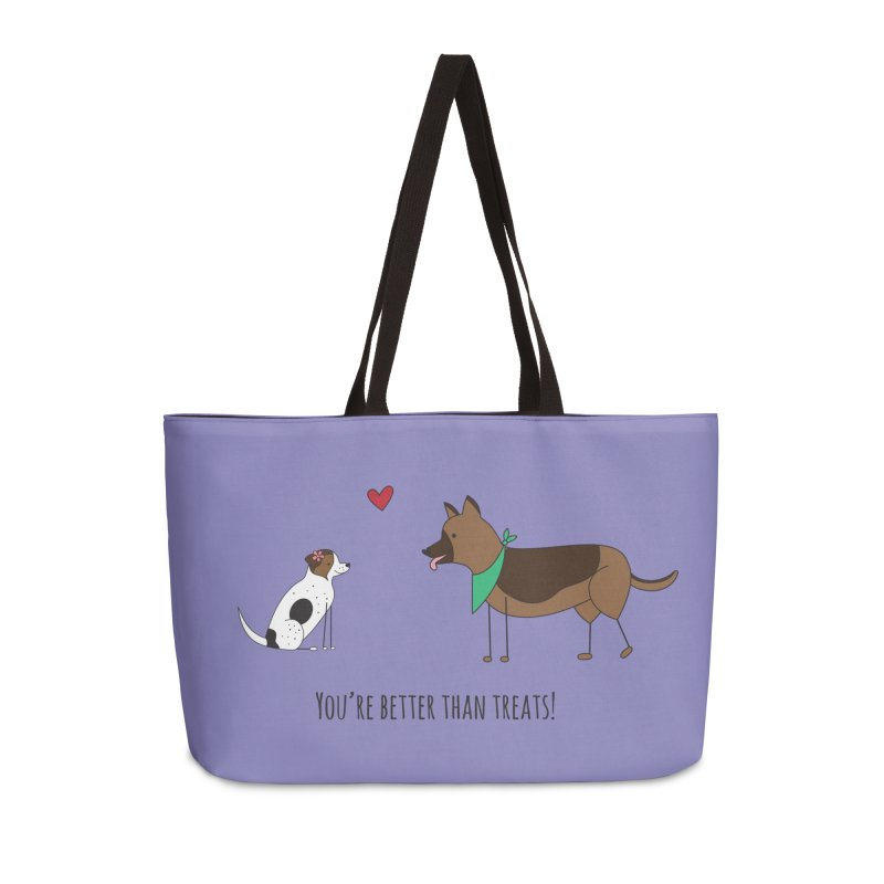 Better Than Treats Accessories Weekender Bag Bag by {mostly} Smiling Sticks