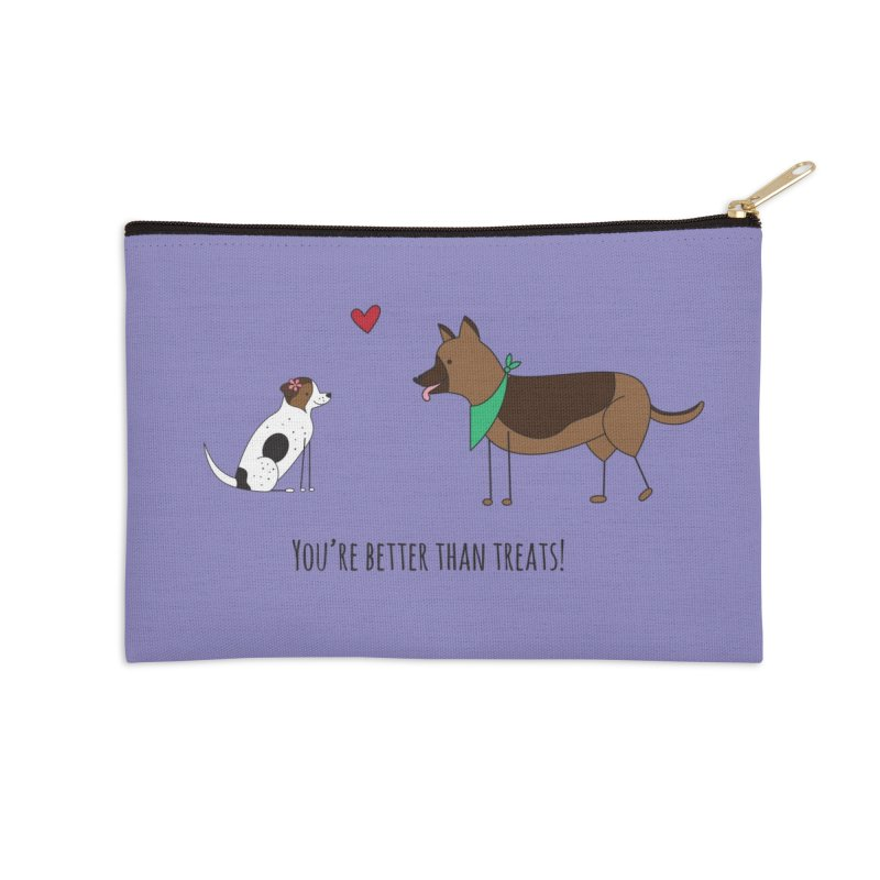 Better Than Treats Accessories Zip Pouch by {mostly} Smiling Sticks