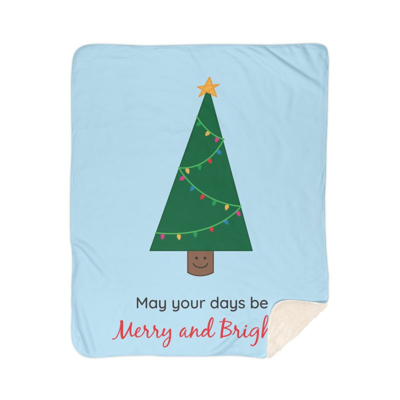 Christmas Tree Home Sherpa Blanket Blanket by {mostly} Smiling Sticks