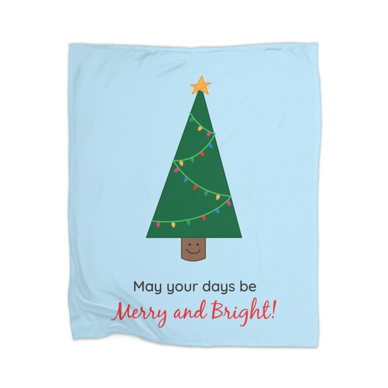Christmas Tree Home Blanket by {mostly} Smiling Sticks