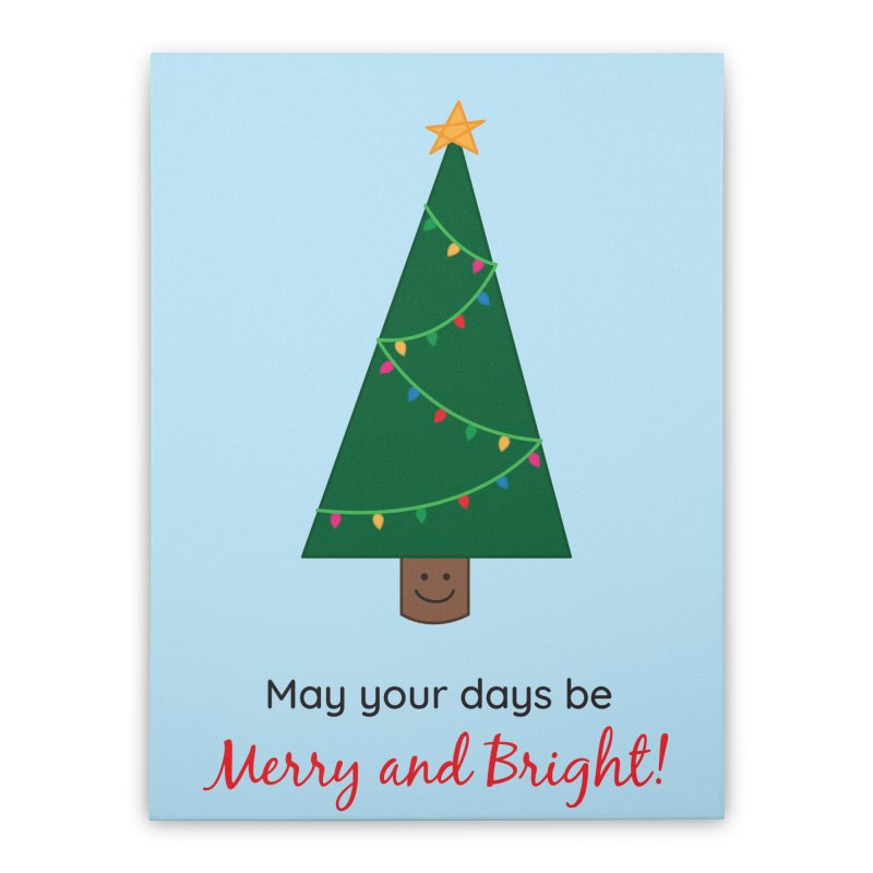 Christmas Tree Home Stretched Canvas by {mostly} Smiling Sticks