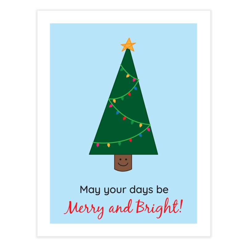 Christmas Tree Home Fine Art Print by {mostly} Smiling Sticks