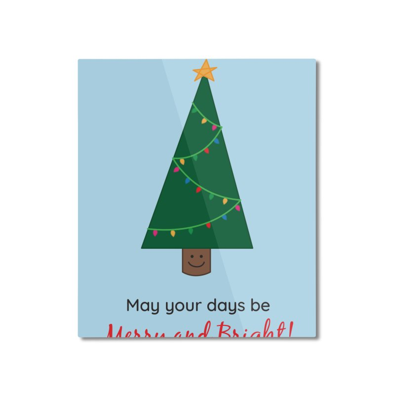 Christmas Tree Home Mounted Aluminum Print by {mostly} Smiling Sticks