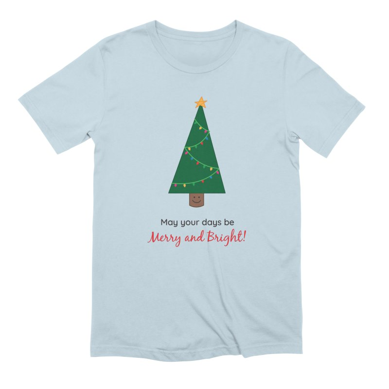 Christmas Tree Men's T-Shirt by {mostly} Smiling Sticks