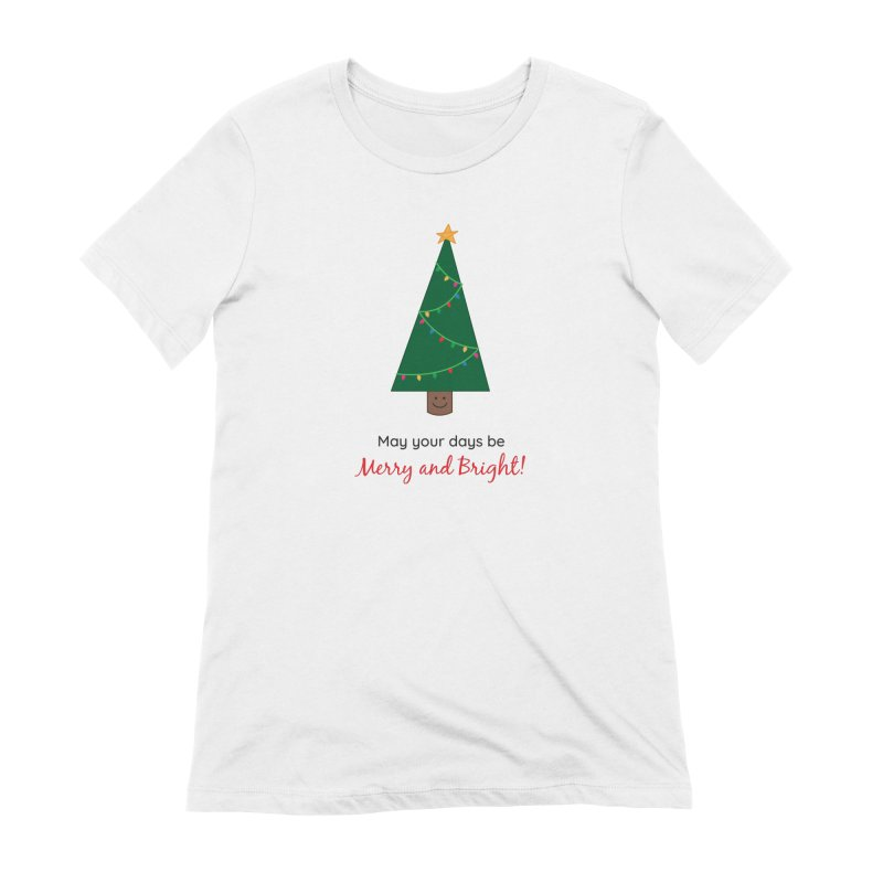 Christmas Tree Women's Extra Soft T-Shirt by {mostly} Smiling Sticks
