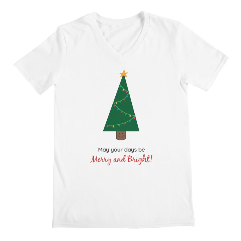 Christmas Tree Men's V-Neck by {mostly} Smiling Sticks
