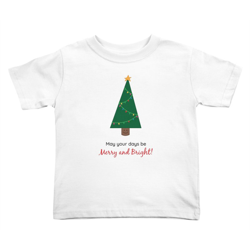 Christmas Tree Kids Toddler T-Shirt by {mostly} Smiling Sticks