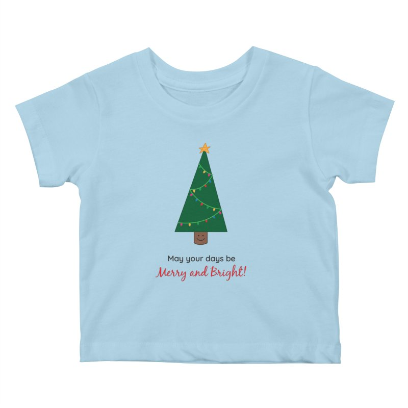 Christmas Tree Kids Baby T-Shirt by {mostly} Smiling Sticks