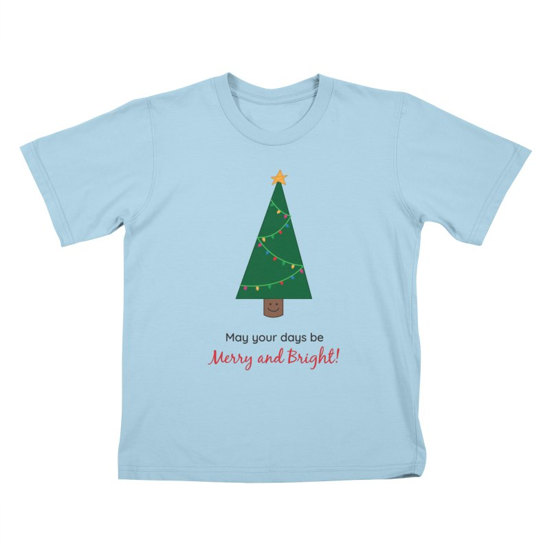 Christmas Tree Kids T-Shirt by {mostly} Smiling Sticks