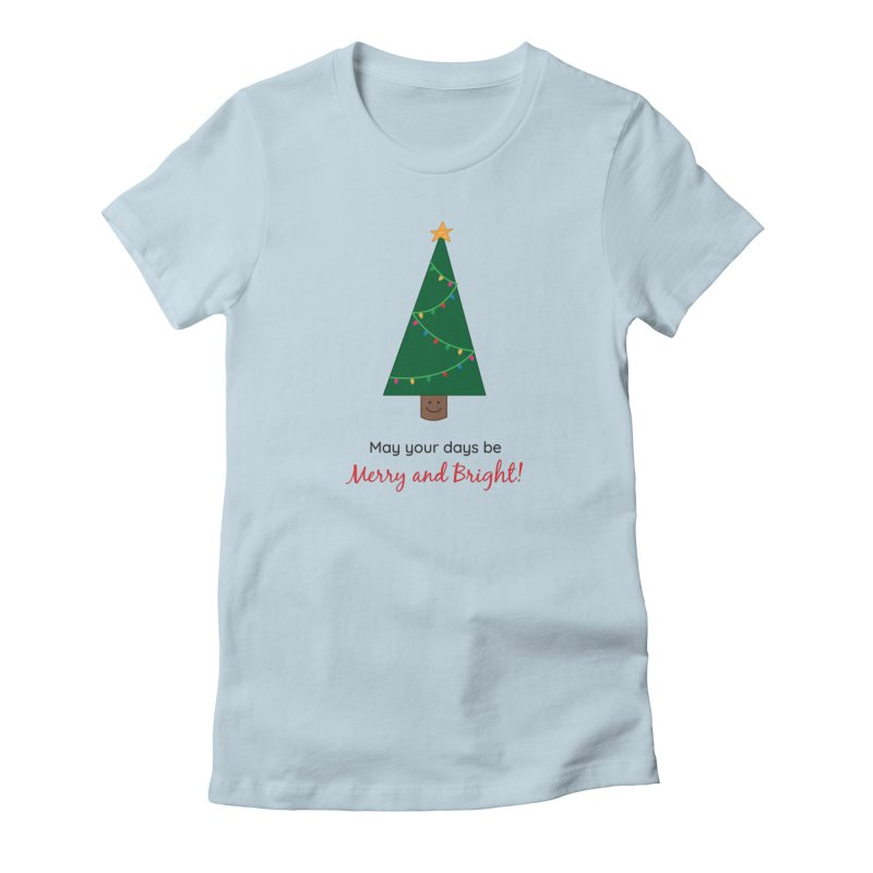 Christmas Tree Women's T-Shirt by {mostly} Smiling Sticks