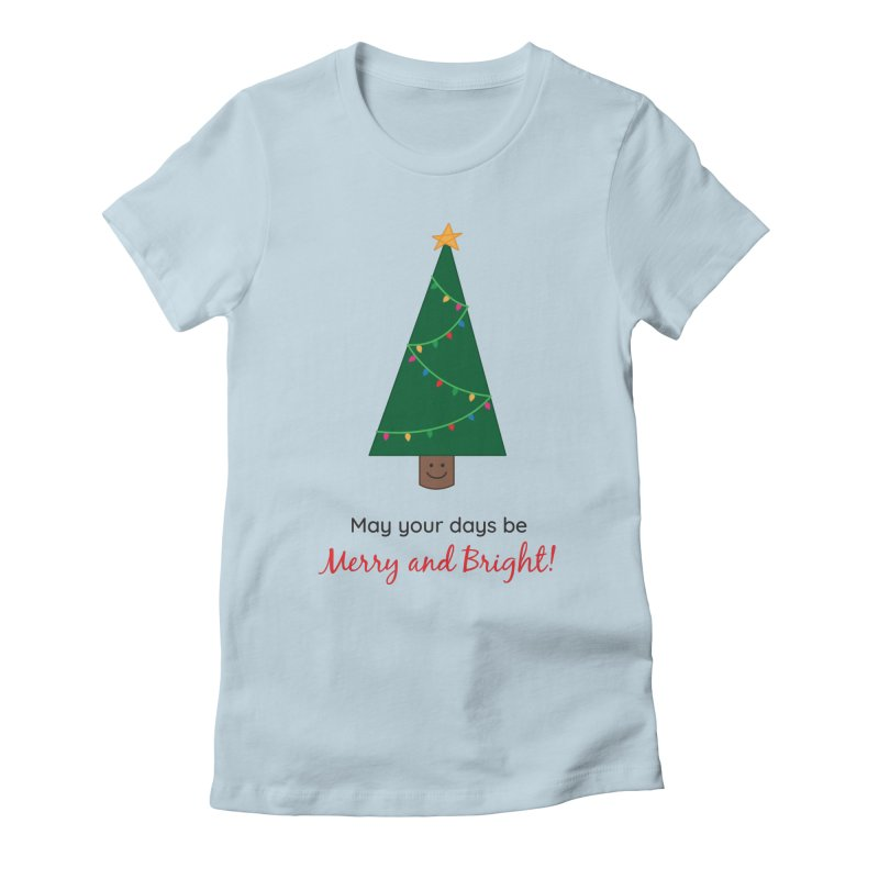 Christmas Tree Women's Fitted T-Shirt by {mostly} Smiling Sticks
