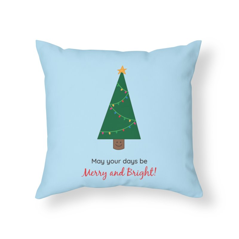 Christmas Tree Home Throw Pillow by {mostly} Smiling Sticks