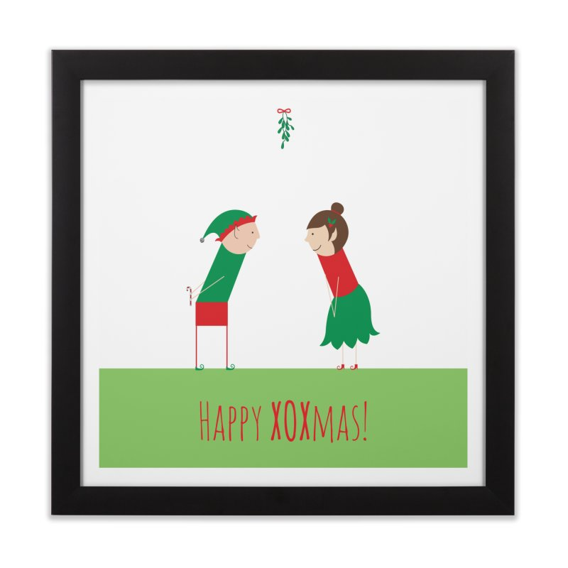 XOXmas Home Framed Fine Art Print by {mostly} Smiling Sticks