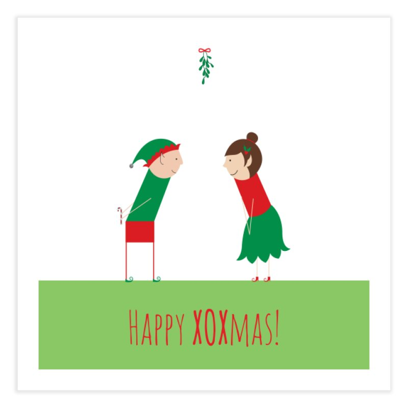 XOXmas Home Fine Art Print by {mostly} Smiling Sticks