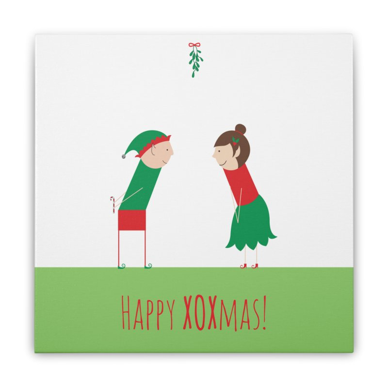 XOXmas Home Stretched Canvas by {mostly} Smiling Sticks