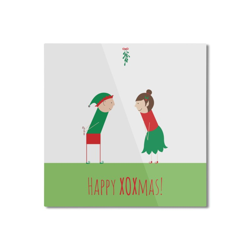 XOXmas Home Mounted Aluminum Print by {mostly} Smiling Sticks