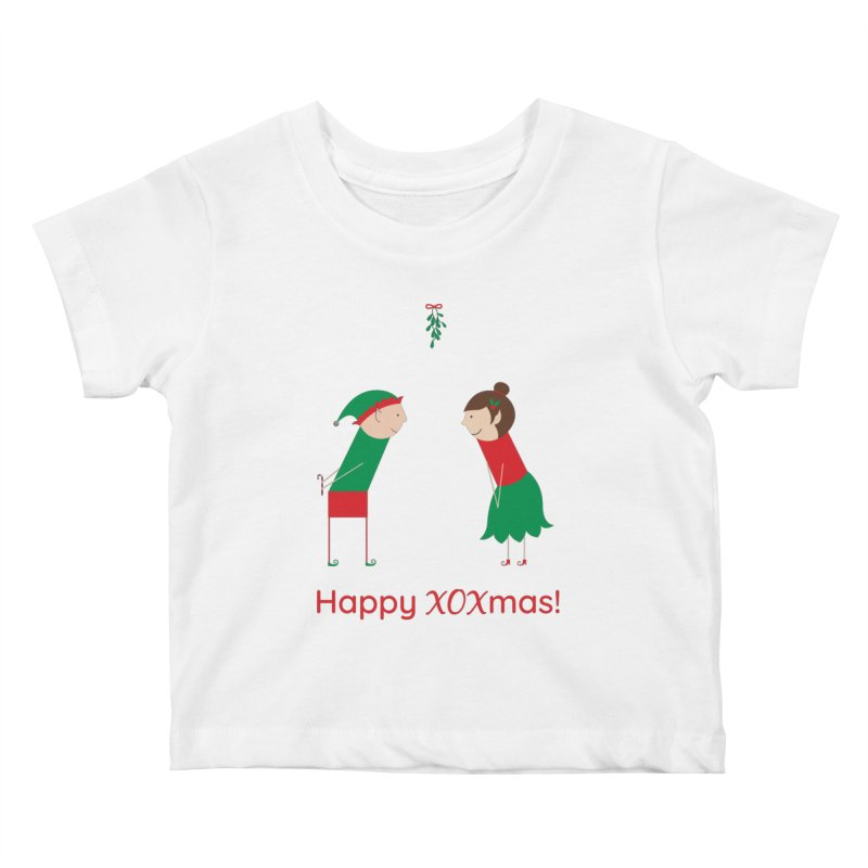 XOXmas Kids Baby T-Shirt by {mostly} Smiling Sticks