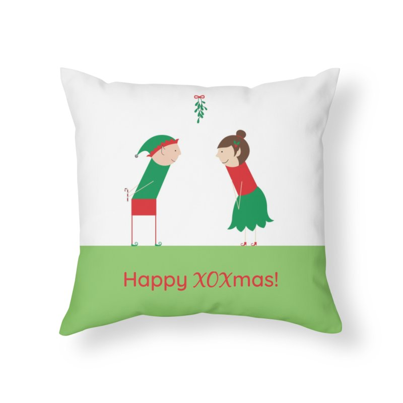 XOXmas Home Throw Pillow by {mostly} Smiling Sticks