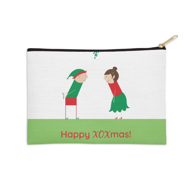 XOXmas Accessories Zip Pouch by {mostly} Smiling Sticks