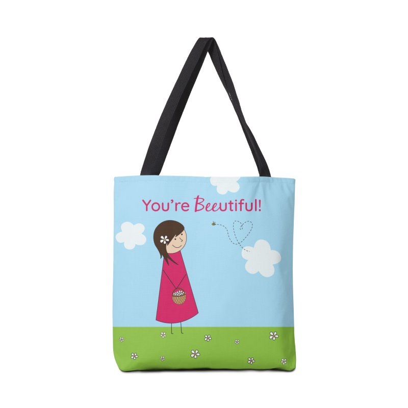 Bee-utiful Accessories Tote Bag Bag by {mostly} Smiling Sticks
