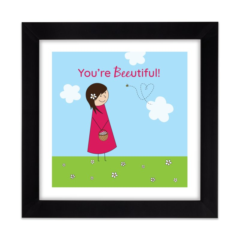 Bee-utiful Home Framed Fine Art Print by {mostly} Smiling Sticks