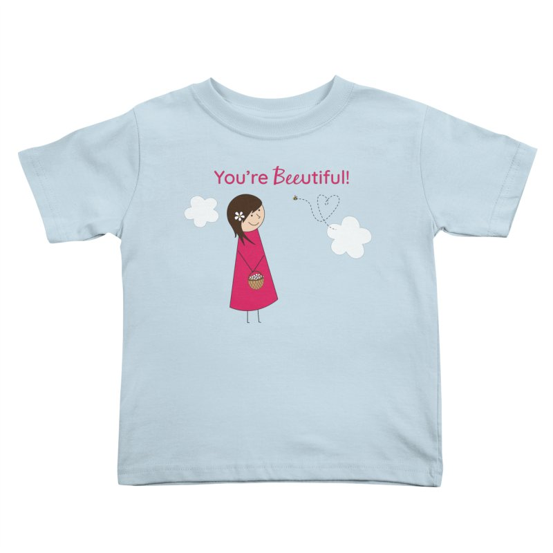 Bee-utiful Kids Toddler T-Shirt by {mostly} Smiling Sticks