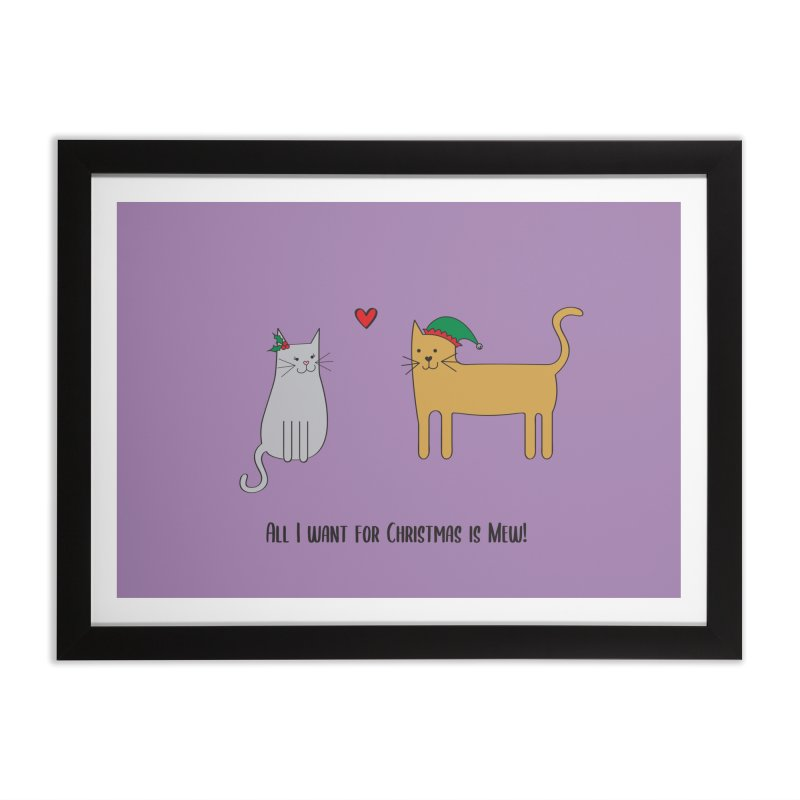 All I Want For Christmas Home Framed Fine Art Print by {mostly} Smiling Sticks