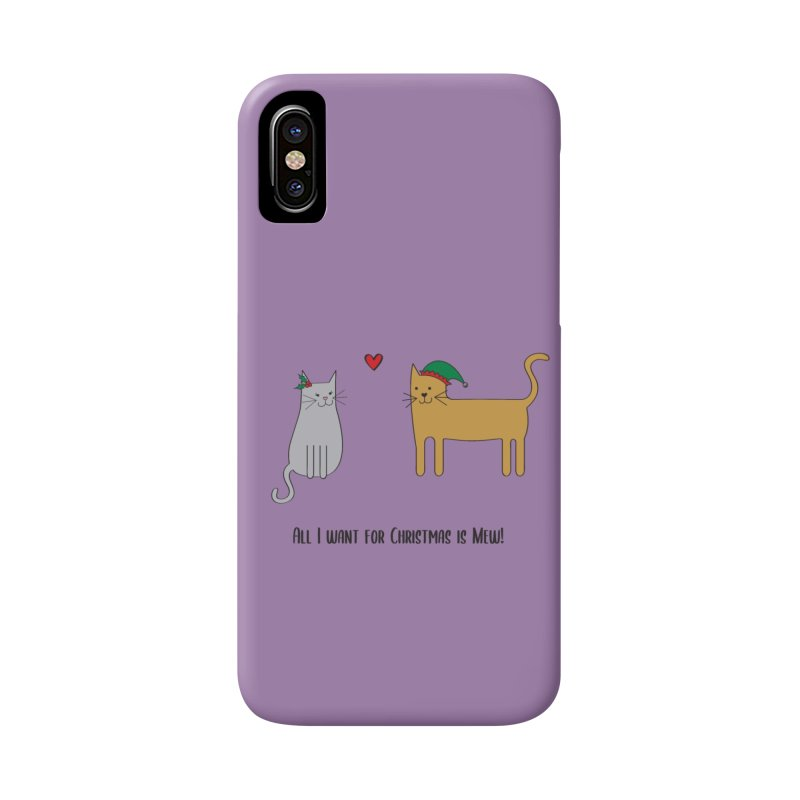 All I Want For Christmas Accessories Phone Case by {mostly} Smiling Sticks